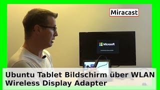 Kabellose WLAN-Bildschirmverbindung Ubuntu Tablet Microsoft Wireless Display Adapter Miracast WLBI