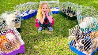 Nastya tem um zoológico em casa