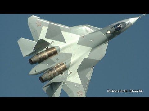Сухой Т-50 ПАК ФА МАКС 2011 солнечно Sukhoi T-50 PAK FA MAKS 2011 sunny