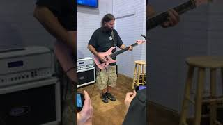 Stephen Carpenter of Deftones playing Swerve City at NAMM 2020 for Fishman 1/18/20