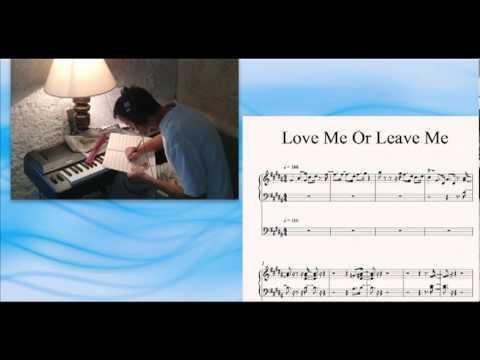 Love Me Or Leave Me, Nina Simone, accompaniment, piano and bass, Sibelius sheet