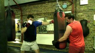 Tom Wallace Shows the Punchbag a Good Time - Boodles Boxing Ball 2011
