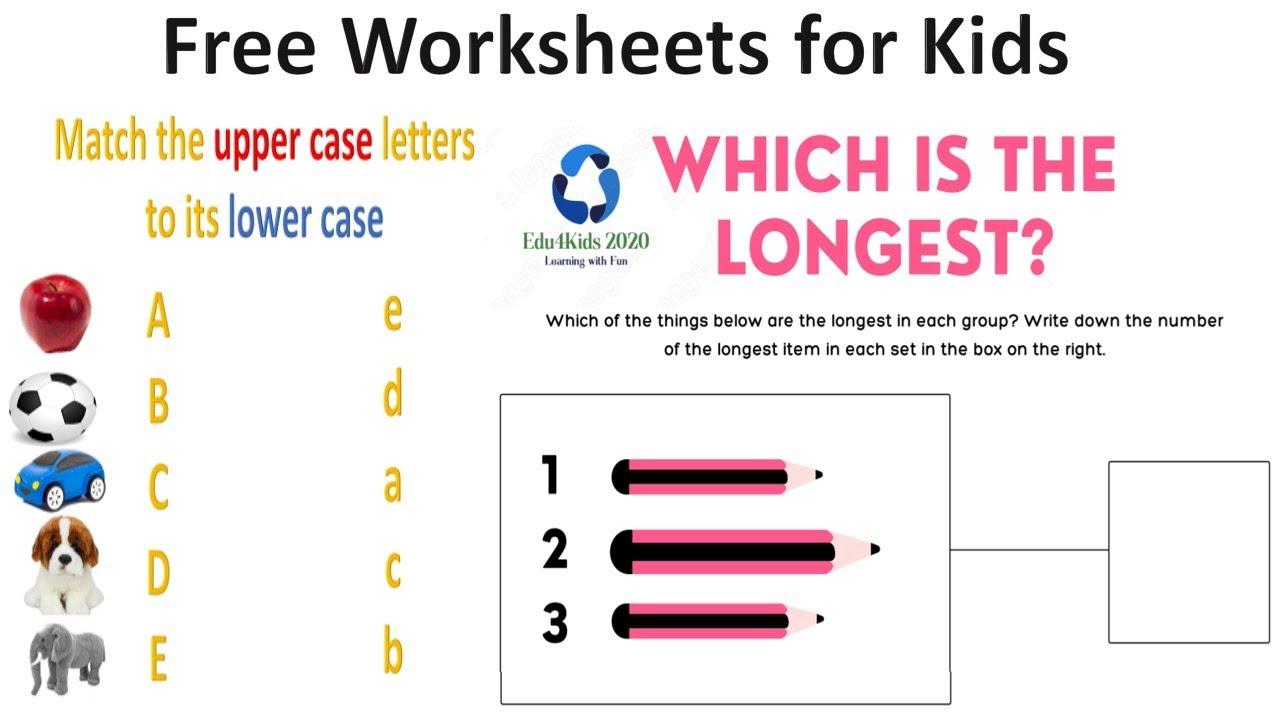 Free Alphabet Worksheets For Kids| Free Activity Worksheets For PREP, Nursery, LKG, UKG kids