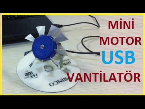 mini usb vantilator nasil yapilir mini motor ile vantilator