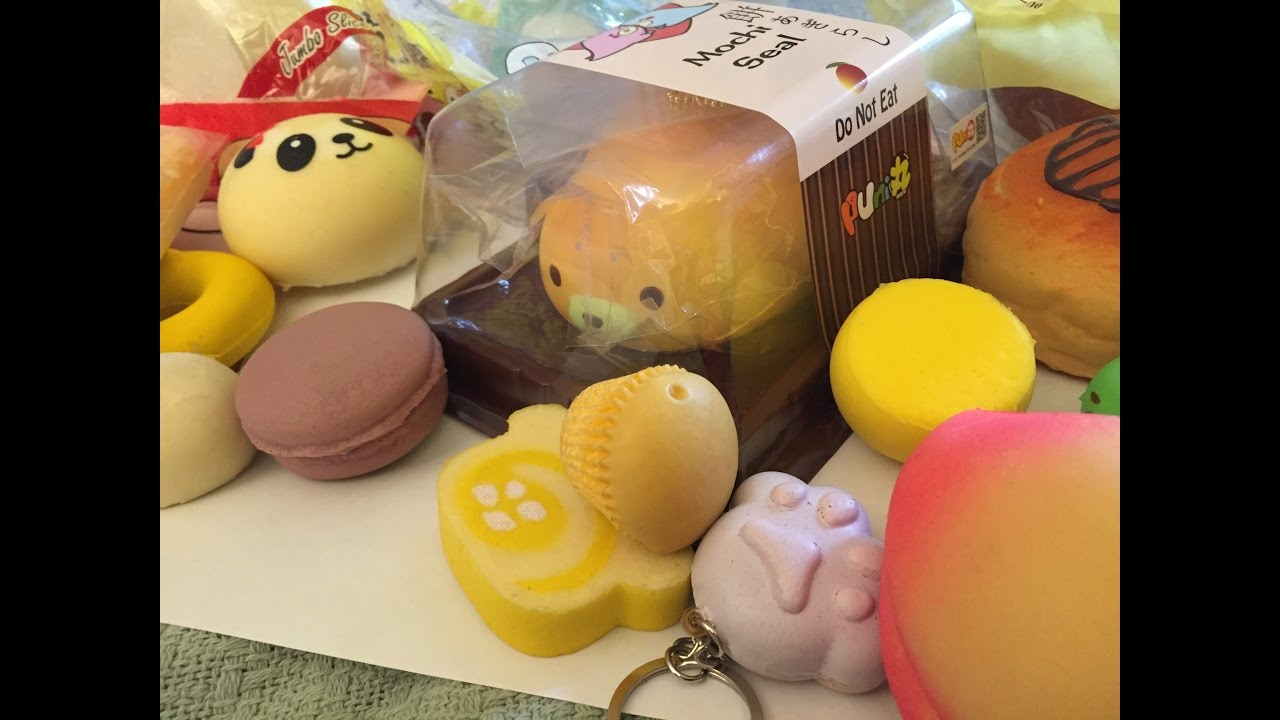 Small squishy collection October 2016 - YouTube