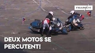 14 juillet: deux motards se percutent!