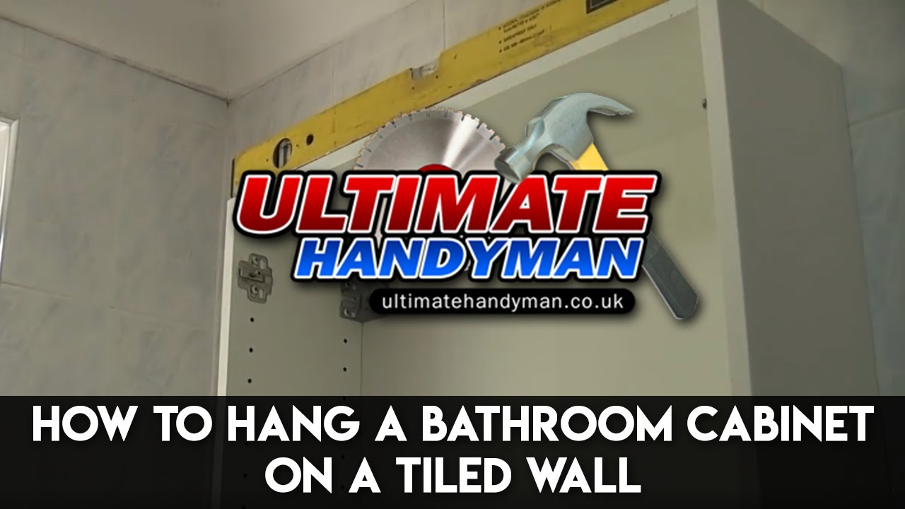 how to hang a bathroom cabinet on the wall how to hang a bathroom cabinet on a tiled wall 26493