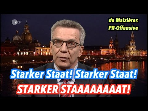 Thomas de Maizière & der starke Staat (Mash Up)
