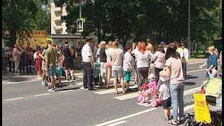 Митинг в Синьково с перекрытием федеральной трассы