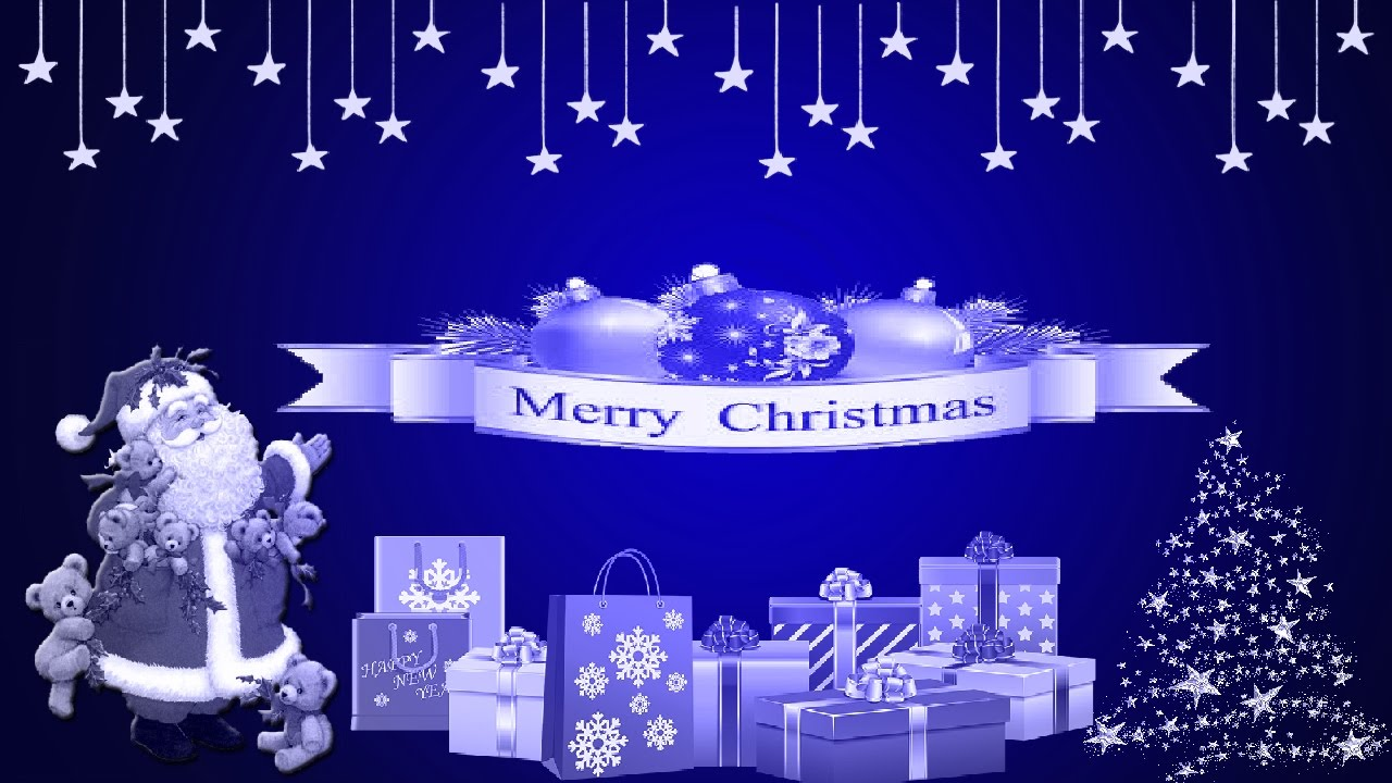 Merry Christmas Animated Greeting Cards Youtube
