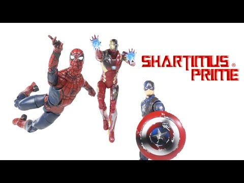 Marvel Legends Civil War Spider-Man, Captain America, & Iron Man 3 Pack Set Toy Movie Action Figure