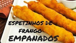 Receita de Espetinho de Frango Empanado
