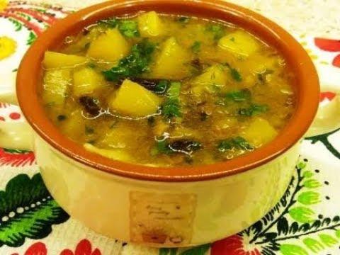 Постный Суп из сушеных грибов
