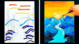 HOW TO CREATE A MASTERPIECE    SIMPLE PAINTING TUTORIALS