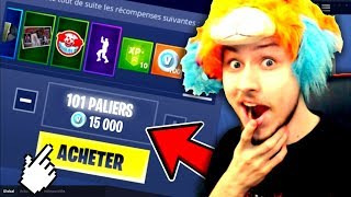 MY REACTION AFTER THE BUY ALL THE COMBAT PASS 'SAISON 6' ON FORTNITE BATTLE ROYALE!