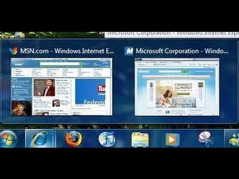 Windows 7 Taskbar Thumbnail (Preview) Enabling & Disabling