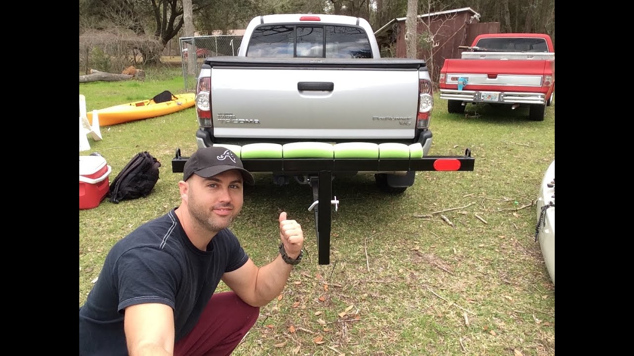 kayak fishing truck bed extender !! - youtube