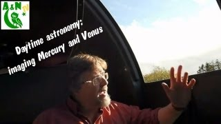 Daytime astronomy: imaging Mercury and Venus