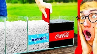 Reacting To Insane COKE vs. MENTOS EXPERIMENTS! (Satisfying Video)