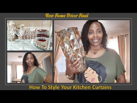 New Home Decor Haul| How To Make Your Curtains Look Fuller| Affordable Curtain Panels