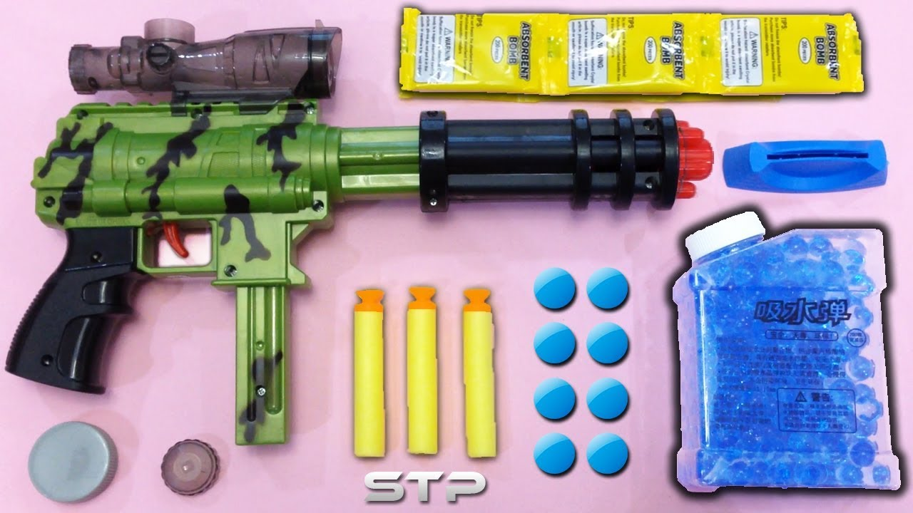 Military Style Air Soft Bullet Gun Toy Water Balls Darts Shooter Koup Super Gatlin Youtube