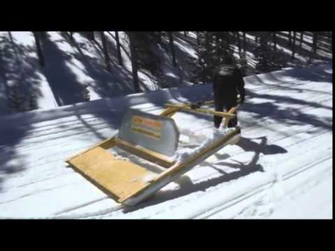 Homemade Snow Plow >> HISSgroomers 6ft professional trail groomer - YouTube