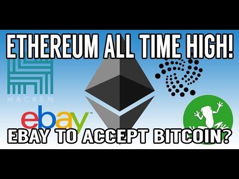 CRYPTO NEWS! EBay To Accept Bitcoin? ETH All Time High! WaBi HKN IOTA