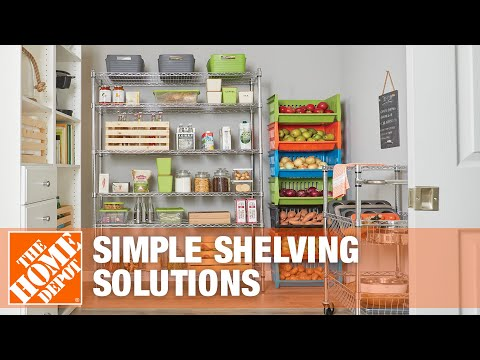 How To Organize with Simple Shelving  Solutions- The Home Depot
