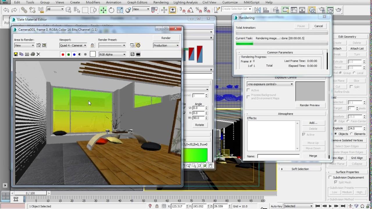 3ds Max 2015 教學課程 0202 VRay室內範例A 01 初步材質 - YouTube
