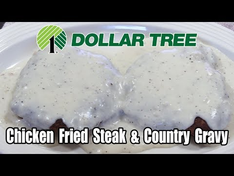 Dollar Tree $1.00 Chicken Fried Steak With Country Gravy - WHAT ARE WE EATING?? - The Wolfe Pit