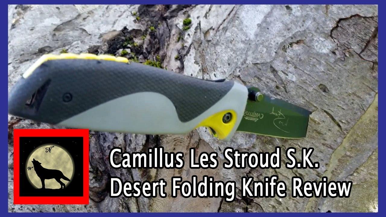 Camillus Les Stroud S K  Desert Folding Knife Ferro Rod Review
