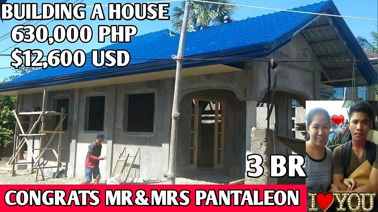 OFW SIMPLE HOUSE,CONGRATS Mr&Mrs Pantaleon,Saudi Arabia Ofw Isabela Phil,Building a House 630,000PHP