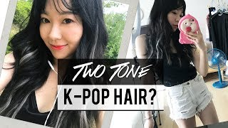 figcaption K-pop Inspired Two Tone Hair + Curling My Hair