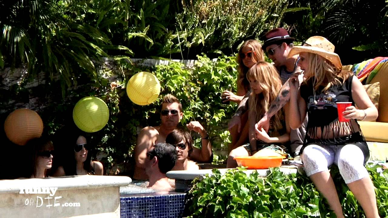 The Making Of Zac Efrons Pool Party Youtube
