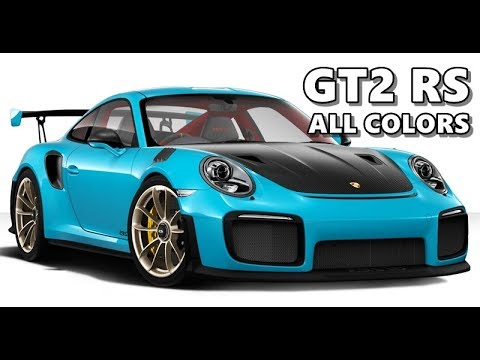 2018 Porsche 911 GT2 RS in All Colors - YouTube on ford blue colors, shelby cobra blue colors, dark blue car paint colors, corvette blue colors, jeep blue colors, candy blue paint colors, chrysler blue colors, jaguar blue colors, chevrolet blue colors, bmw blue colors, mercedes benz blue colors, midnight blue auto paint colors, lexus blue colors, subaru blue colors, camaro blue colors, mazda blue colors, toyota blue colors, red brick trim paint colors, mustang blue colors, audi blue colors,