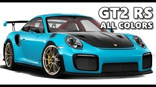2018 Porsche 911 GT2 RS in All Colors