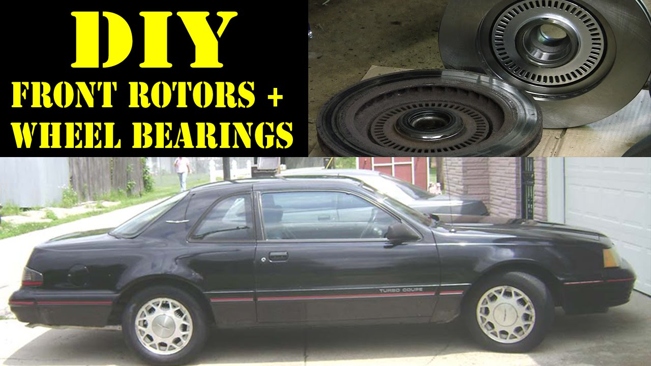 1988 ford thunderbird turbocoupe front rotors and wheel bearings repair [ 1280 x 720 Pixel ]