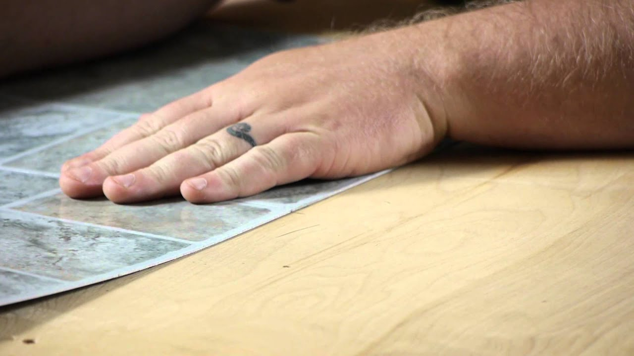 How to lay self adhesive vinyl tiles working on flooring youtube dailygadgetfo Choice Image