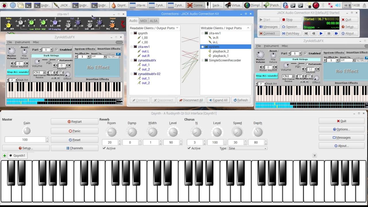 Raspberry PI - ACOUSTIC GRAND PIANO