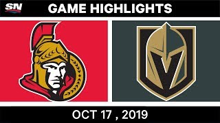 NHL Highlights | Senators vs Golden Knights - Oct 17 2019