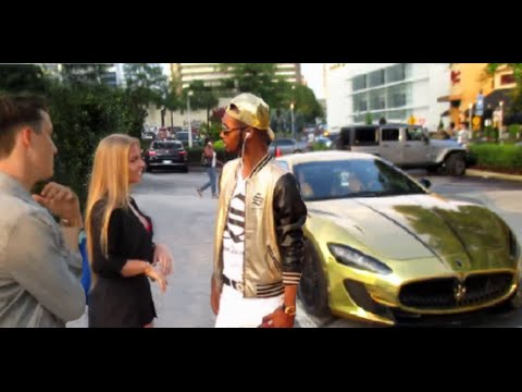 "GOLD DIGGER Prank ""I Can Take Your Girl"" Gold Maserati Part 2"