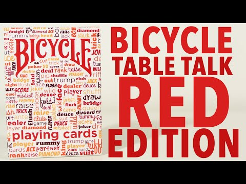 Deck Review - Bicycle Table Talk Red Edition Playing Cards [HD]