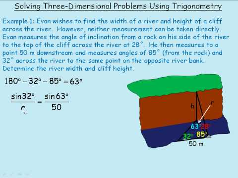 Solving 3 Dimensional Problems Using Trigonometry - YouTube