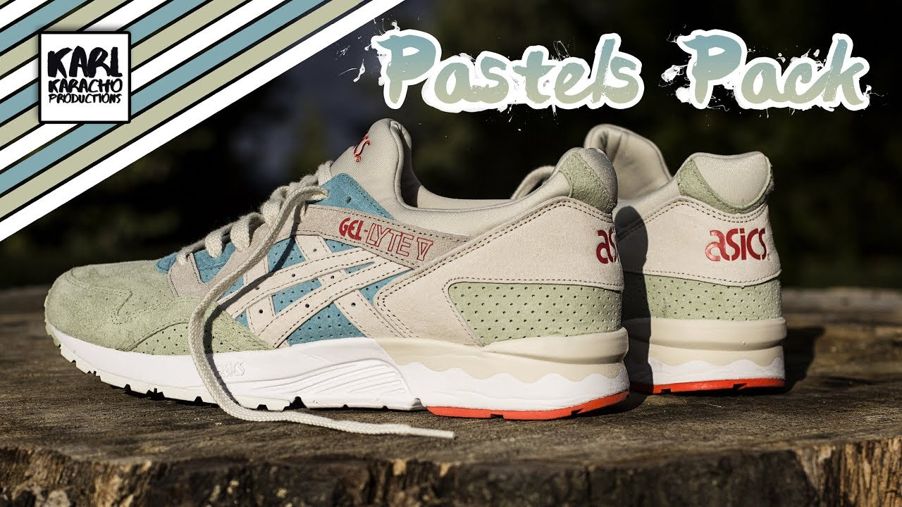 low priced 3b75b c37dd Asics Gel Lyte V - Pastels Pack - blue/mint green/Birch - Sneakers on feet  - Musiy by Joakim Karud