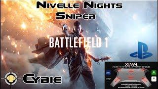Nivelle Nights Sniper - XIM 4 PS4 Battlefield 1 Gameplay
