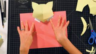 How to Make a Kitten Head Pop-Up Card | Pop-Up Cards