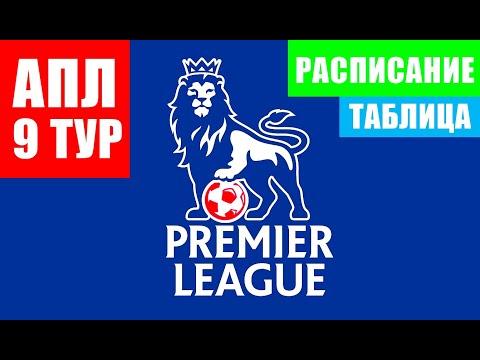 Футбол. Англия. Английская премьер-лига 2021-22. 9 тур. Расписание, положение команд в таблице АПЛ.