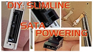 slimline serial ata powering. DIY: how to cut connector. делаем слимлайн сериал ата.
