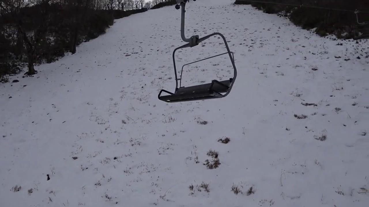 2018.12.26 【暖冬】めいほうスキー場γ800の様子。 - YouTube