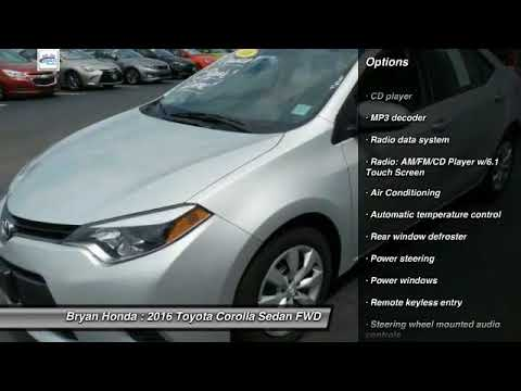 2016 Toyota Corolla Fayetteville Nc Fort Bragg Nc